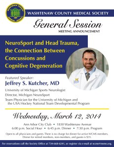 Jeffrey S. Kutcher, MD, to Speak at General Session on March 12, 2014